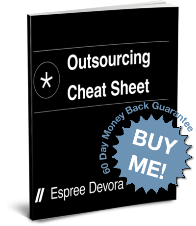 Outsourcing Cheat Sheet by Espree Devora